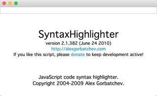 Seesaaブログにソースコードを表示する「SyntaxHighlighter」スクリプト